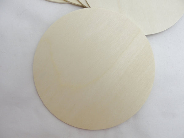 "5 large Wooden 4 inch Circles, 4"" wooden disc, 1/8"" thick unfinished DIY - Wood parts - Craft Supply House"