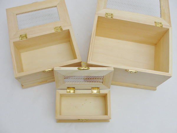 Wood nesting boxes with see through top - Wood parts - Craft Supply House