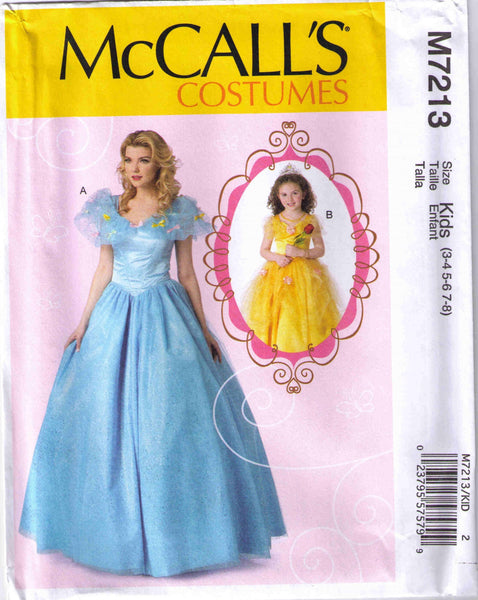 McCalls 7213 Kids Halloween costume princess pattern size 3-8 - Patterns - Craft Supply House
