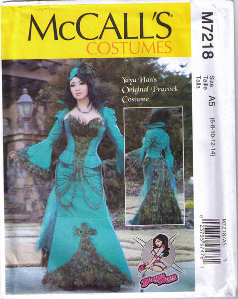 Peacock jacket, corset and skirt, Adult Halloween costume pattern, McCalls 7218 size 6-14 - Patterns - Craft Supply House