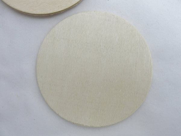"5 Wooden 3 inch Circle, wooden disc, wood disk 3"" x 1/8"" thick unfinished DIY - Wood parts - Craft Supply House"