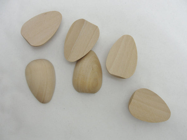 Wooden split pigeon egg half set of 6 - Wood parts - Craft Supply House