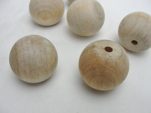"6 Wooden ball knob 1"" (1 inch ball knob) solid wood - Wood parts - Craft Supply House"