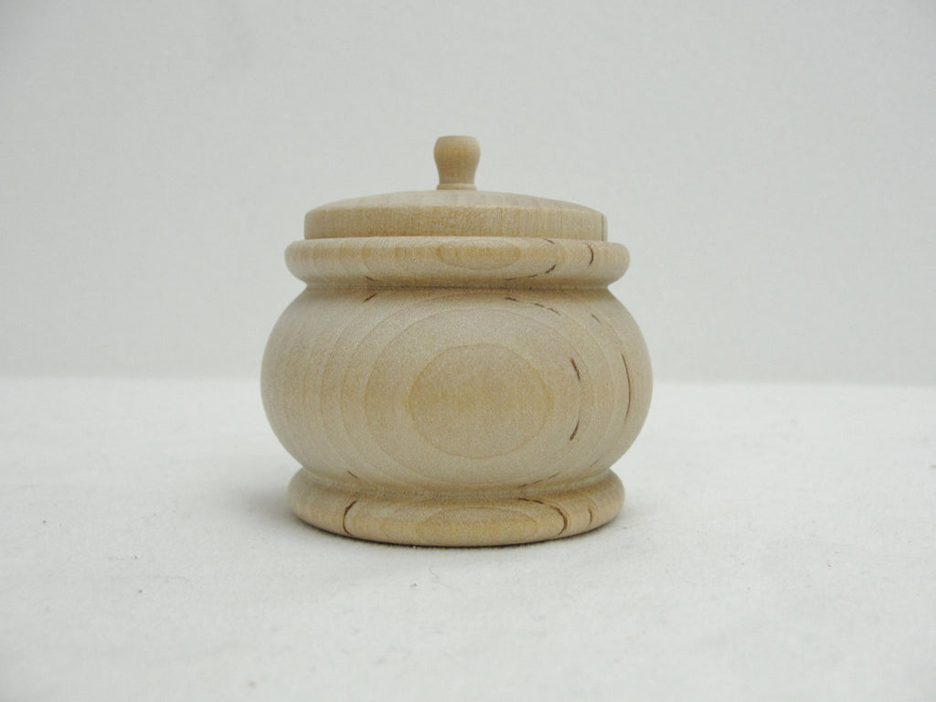 Wooden pumpkin jar, trinket box - Wood parts - Craft Supply House