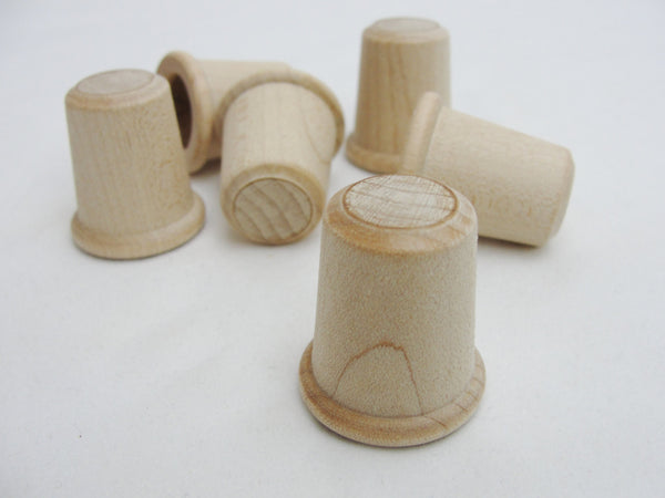 Wooden thimble set of 6 - Wood parts - Craft Supply House