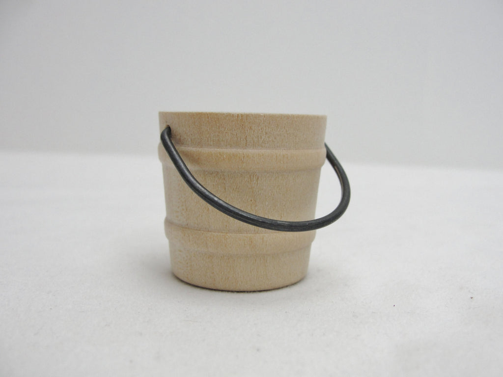 Miniature wood bucket - Wood parts - Craft Supply House