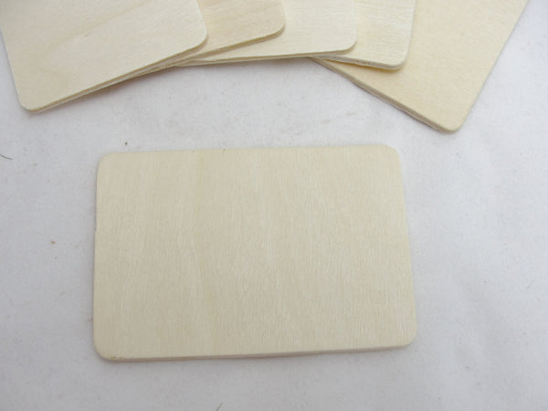 "Wooden rectangles 3"" x 2"" set of 6"