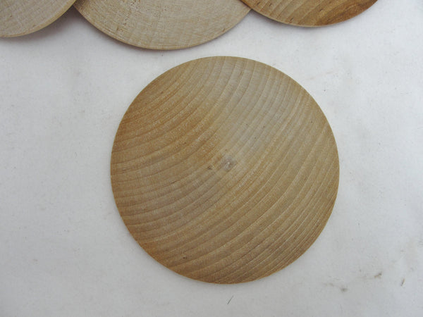 "12 Large wooden domed disk 2 7/8"", wooden Circle, domed disc, 7/16"" thick unfinished DIY - Wood parts - Craft Supply House"