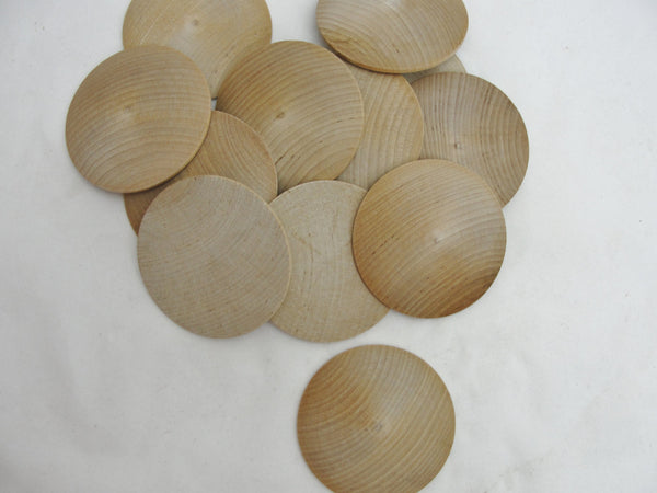"Large wooden domed disc 2 7/8"" wide x 7/16"" thick set of 12 - Wood parts - Craft Supply House"
