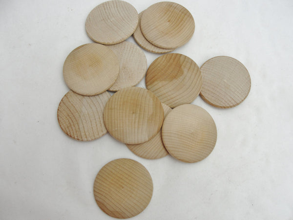 "12 Large wooden domed disk 2 1/4"", wooden Circle, domed disc, 5/16"" thick unfinished DIY - Wood parts - Craft Supply House"