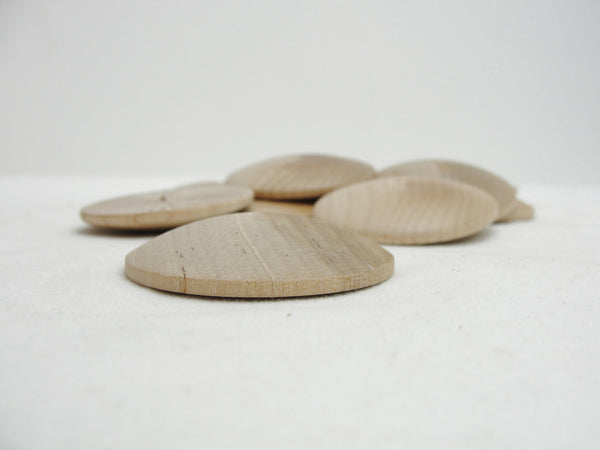 "Wooden domed disc 1 3/4"" wide x 5/16"" thick set of 12 - Wood parts - Craft Supply House"