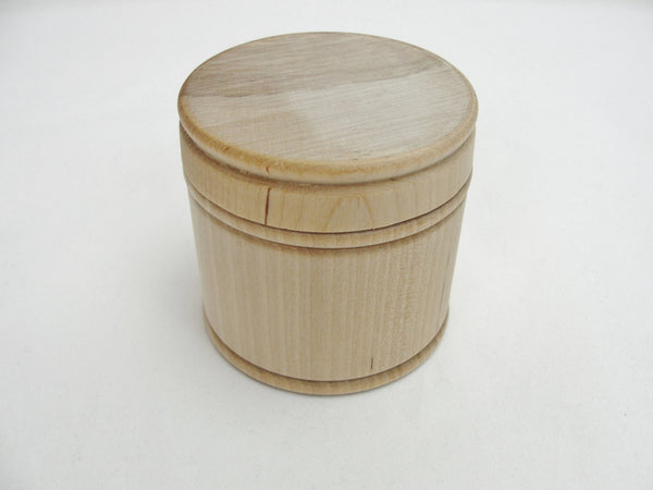 Wooden spice jar or rosary box - Wood parts - Craft Supply House