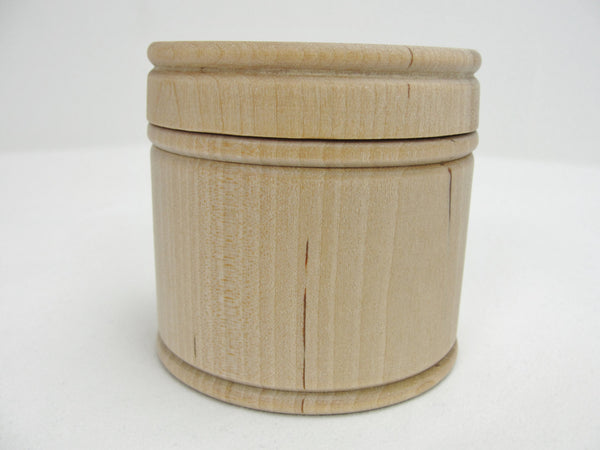Wooden spice jar, unfinished wooden jar, rosary box