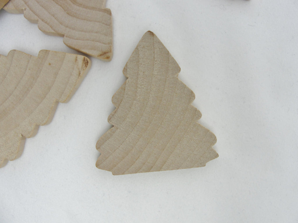 "Wooden tree cutout 2 1/4"" tall set of 6 - Wood parts - Craft Supply House"