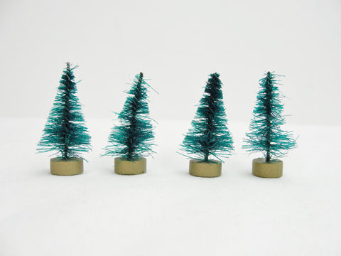 "Green bottle brush sisal trees 1.5"" tall set of 4 - General Crafts - Craft Supply House"