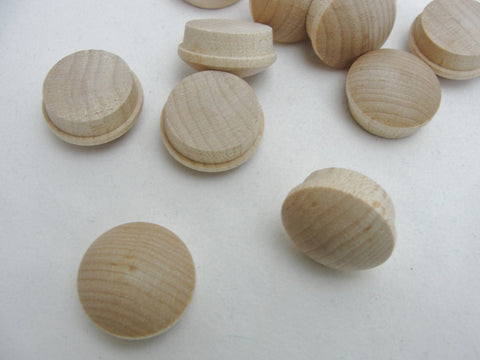 "3/4"" button plug, mushroom plug set of 12 - Wood parts - Craft Supply House"