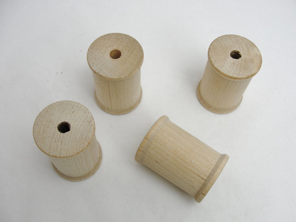 "Wooden spool 2"" tall set of 4 - Wood parts - Craft Supply House"