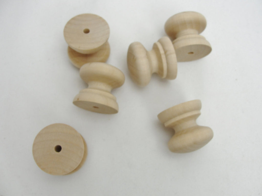 "Wooden British drawer knobs 1.25"" (1 1/4"") set of 6 - Wood parts - Craft Supply House"