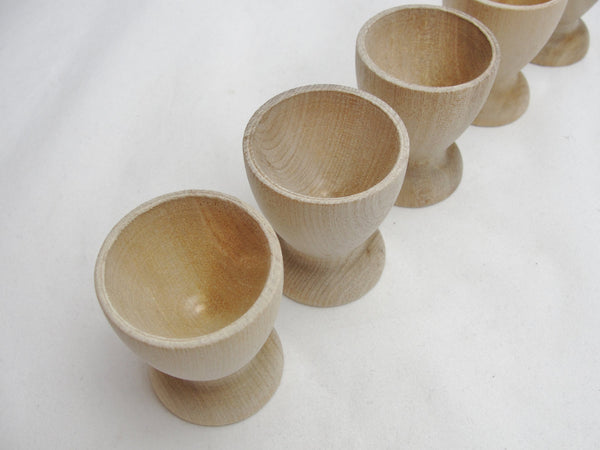 Wooden egg cup set of 5 - Wood parts - Craft Supply House
