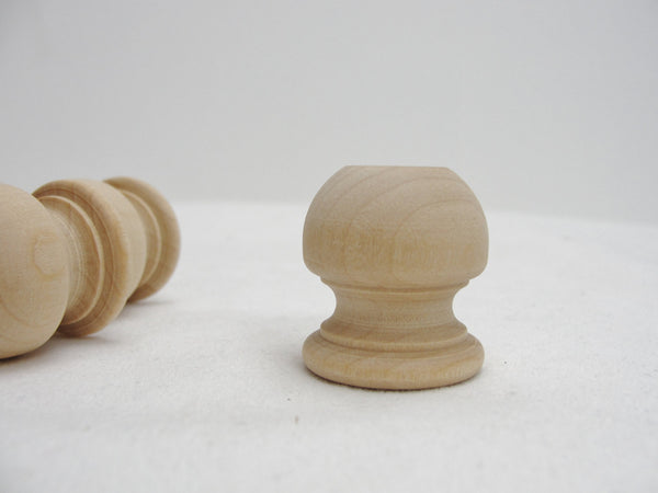 "Wooden end cap Finial 1 1/16"" tall, 1"" wide set of 12 - Wood parts - Craft Supply House"