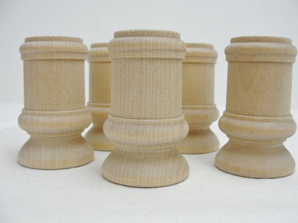 Wooden candle stick holders set of 5 - Wood parts - Craft Supply House