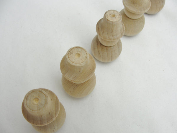 "Turned fat wooden snowman 2 1/8"" set of 5 - Wood parts - Craft Supply House"