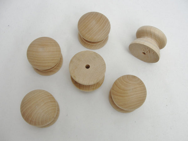 "6 Wooden British drawer knob 1.5"" (1 1/2"") - Wood parts - Craft Supply House"