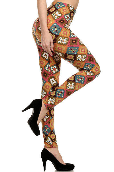 Tribal Patch Quilt Leggings