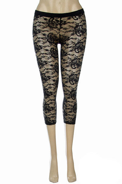 USA Lace Capri Leggings