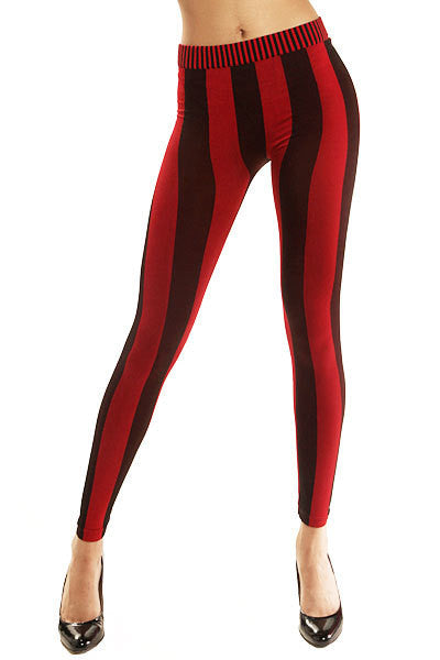 Plush Vertical Stripe Leggings
