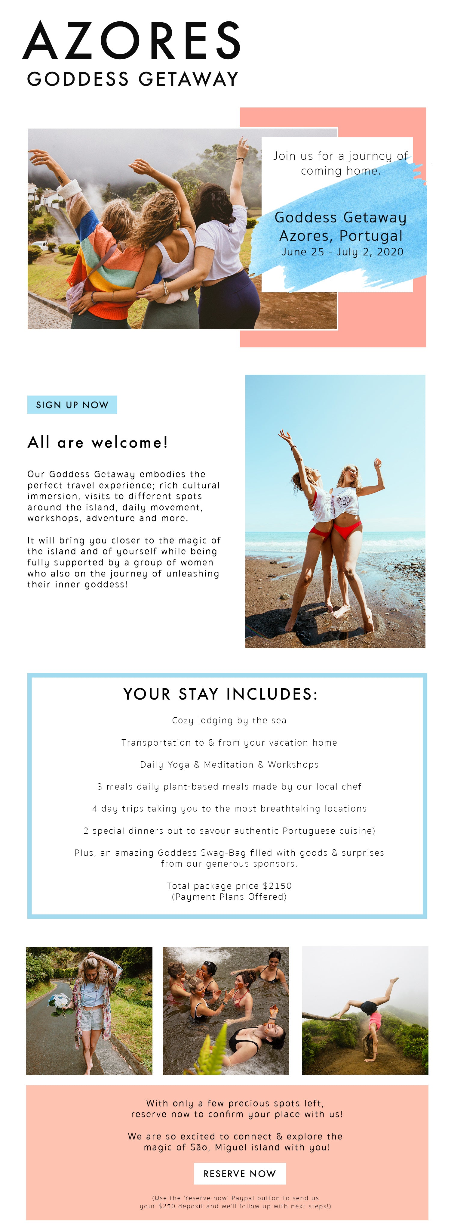 Yoga Retreat Goddess Giveaway Azores Portugal
