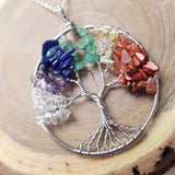 Firmly Rooted Chakra Tree of Life Necklace - ESMEBO