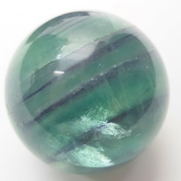 Purple & Green Fluorite Healing Sphere - ESMEBO