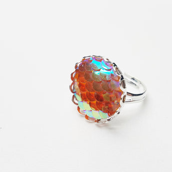 Mermaid's Iridescence Single Ring - ESMEBO