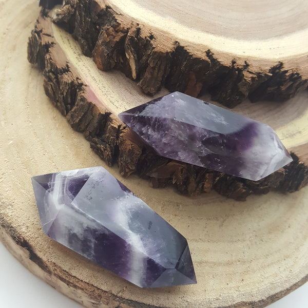 Amethyst Double Terminated Points Pair
