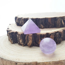 Amethyst Mini Sphere & Pyramid Set