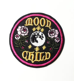 Moon Child Embroidery Patch - ESMEBO