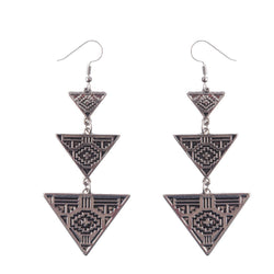 Tripled Pyramid Earrings - ESMEBO