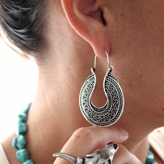 Boho Drop Hoop Earrings - ESMEBO