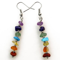 Chakras Aligned Stone Earrings - ESMEBO