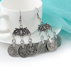 Gypsy Chandelier Coin Earrings - ESMEBO