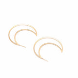 Over the Moon Hoop Earrings - ESMEBO