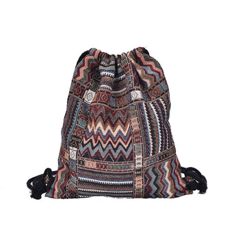 The Wanderlust Drawstring Backpack - ESMEBO