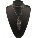Dreams in Turquoise Dreamcatcher Necklace