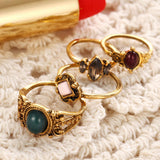 Golden Accents 4-Piece Ring Set - ESMEBO