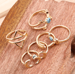 Moonlit Adventure 6-Piece Ring Set - ESMEBO