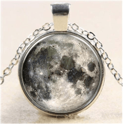Full Moon Dome Necklace - ESMEBO