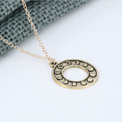 Lunar Phase Ring Necklace - ESMEBO
