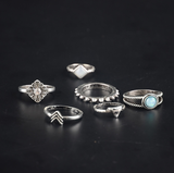 Flat Angled 6-Piece Ring Set