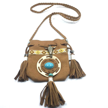 Southwestern Artifact Pouch Necklace - ESMEBO